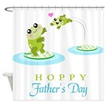 Hoppy Fathers day frogs Shower Curtain