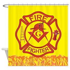 MASONIC FIRE-FIGHTER Shower Curtain