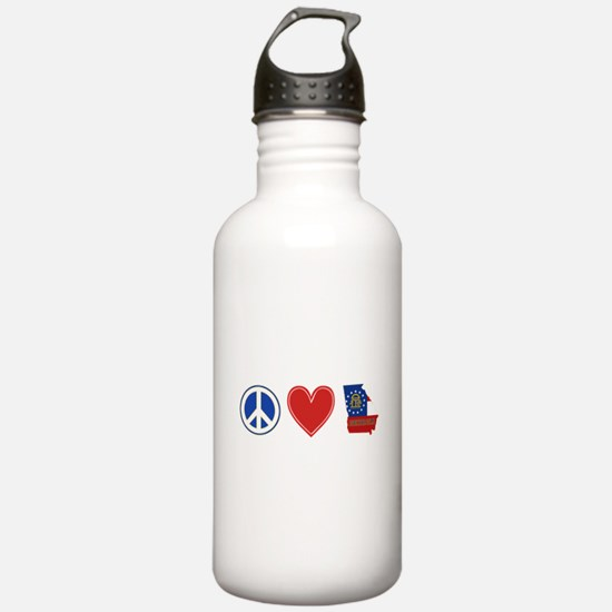 Peace Love Georgia Water Bottle