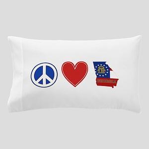 Peace Love Georgia Pillow Case