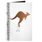 Cute kangaroo mom and baby Journal