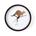 Cute kangaroo mom and baby Wall Clock