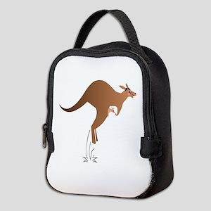 Cute kangaroo mom and baby Neoprene Lunch Bag