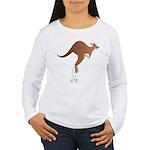 Cute kangaroo mom and baby Long Sleeve T-Shirt