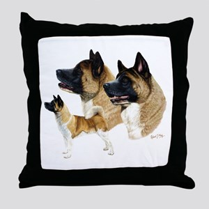 Akita Throw Pillow