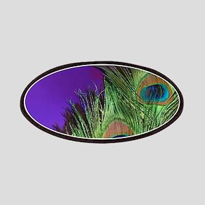 Purple Foil Peacock Patches