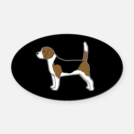 Beagle Oval Car Magnet