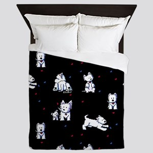 Block Party Westies Queen Duvet