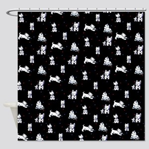 Block Party Westies Shower Curtain