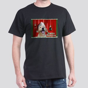 Golden Retriever Christmas Dark T-Shirt