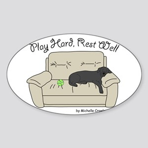 Black Lab - Play Hard Sticker