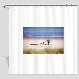 beach adventures Shower Curtain