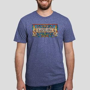 Barcelona Mosaica Mens Tri-blend T-Shirt