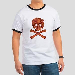 Bacon Skull and Crossbones T-Shirt
