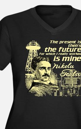 The Future Is Teslas Plus Size T-Shirt