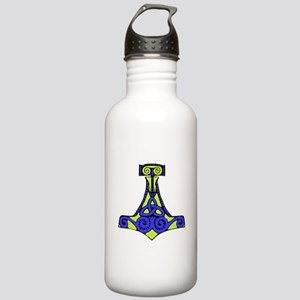 Mjolnir purple and green Water Bottle