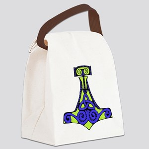 Mjolnir purple and green Canvas Lunch Bag