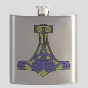 Mjolnir purple and green Flask