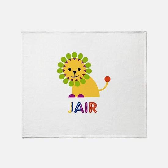 Jair Loves Lions Throw Blanket