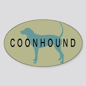 Coonhound Dog Rectangle Sticker