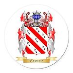 Castanie Round Car Magnet