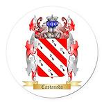 Castaneda Round Car Magnet
