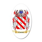 Castane 20x12 Oval Wall Decal