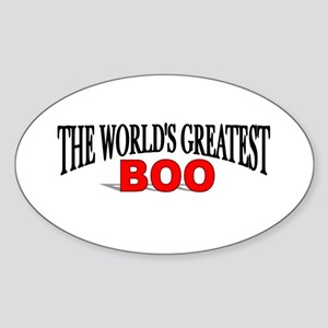 """The World's Greatest Boo"" Oval Sticker"