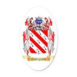 Castagnone Oval Car Magnet
