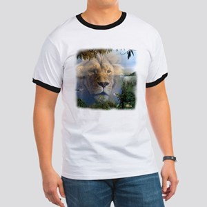 Lion and Lamb Ringer T