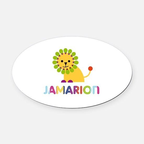 Jamarion Loves Lions Oval Car Magnet