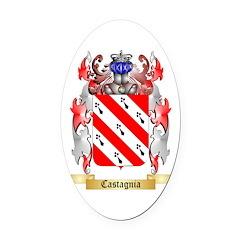 Castagnia Oval Car Magnet