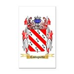 Castagnetta Rectangle Car Magnet