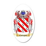 Castagnet 35x21 Oval Wall Decal