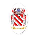Castagne Oval Car Magnet