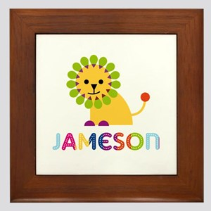 Jameson Loves Lions Framed Tile