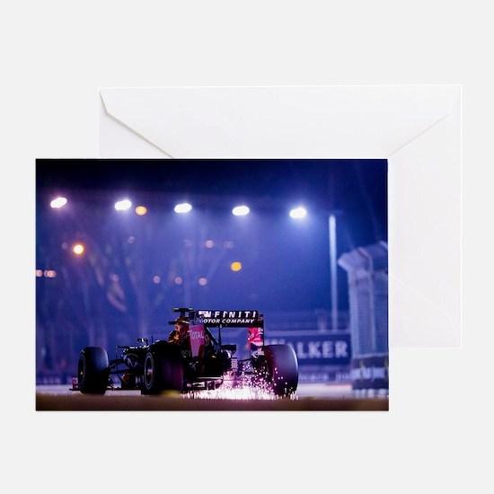 Cute F1 red bull Greeting Card