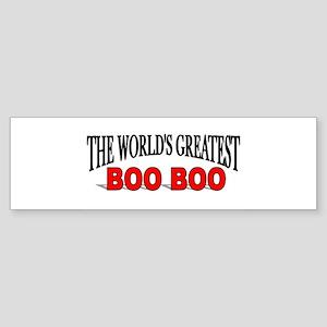 """""""The World's Greatest Boo Boo"""" Bumper Sticker"""