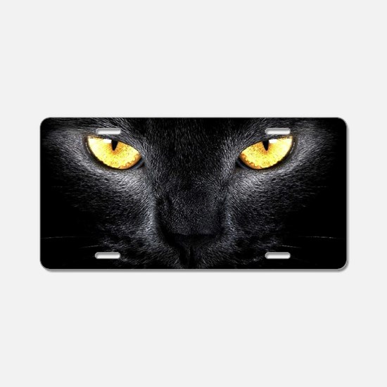 Funny Cat eyes Aluminum License Plate