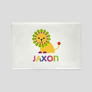 Jaxon Loves Lions Rectangle Magnet