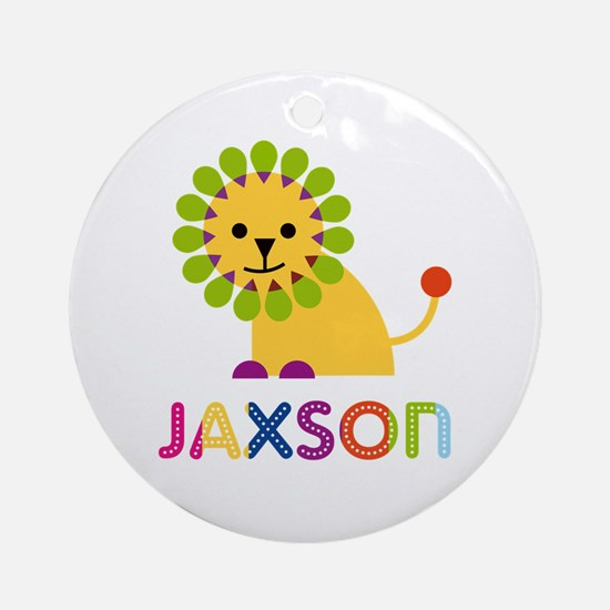 Jaxson Loves Lions Ornament (Round)