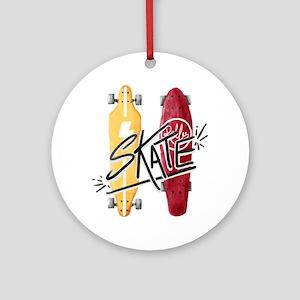 skate or die Round Ornament