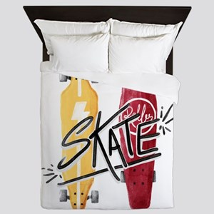 skate or die Queen Duvet