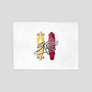 skate or die 5'x7'Area Rug