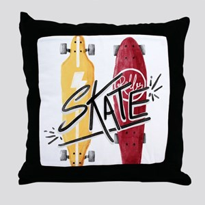 skate or die Throw Pillow