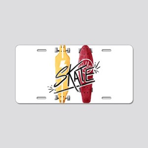 skate or die Aluminum License Plate