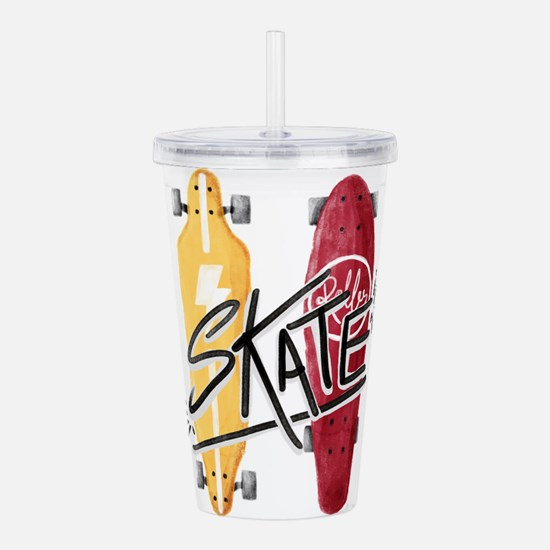 skate or die Acrylic Double-wall Tumbler