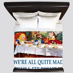 WE'RE ALL QUITE MAD King Duvet