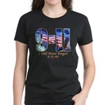 9-11 Never Forget Women's Dark T-Shirt
