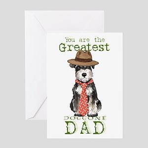 Mini Schnauzer Dad Greeting Card